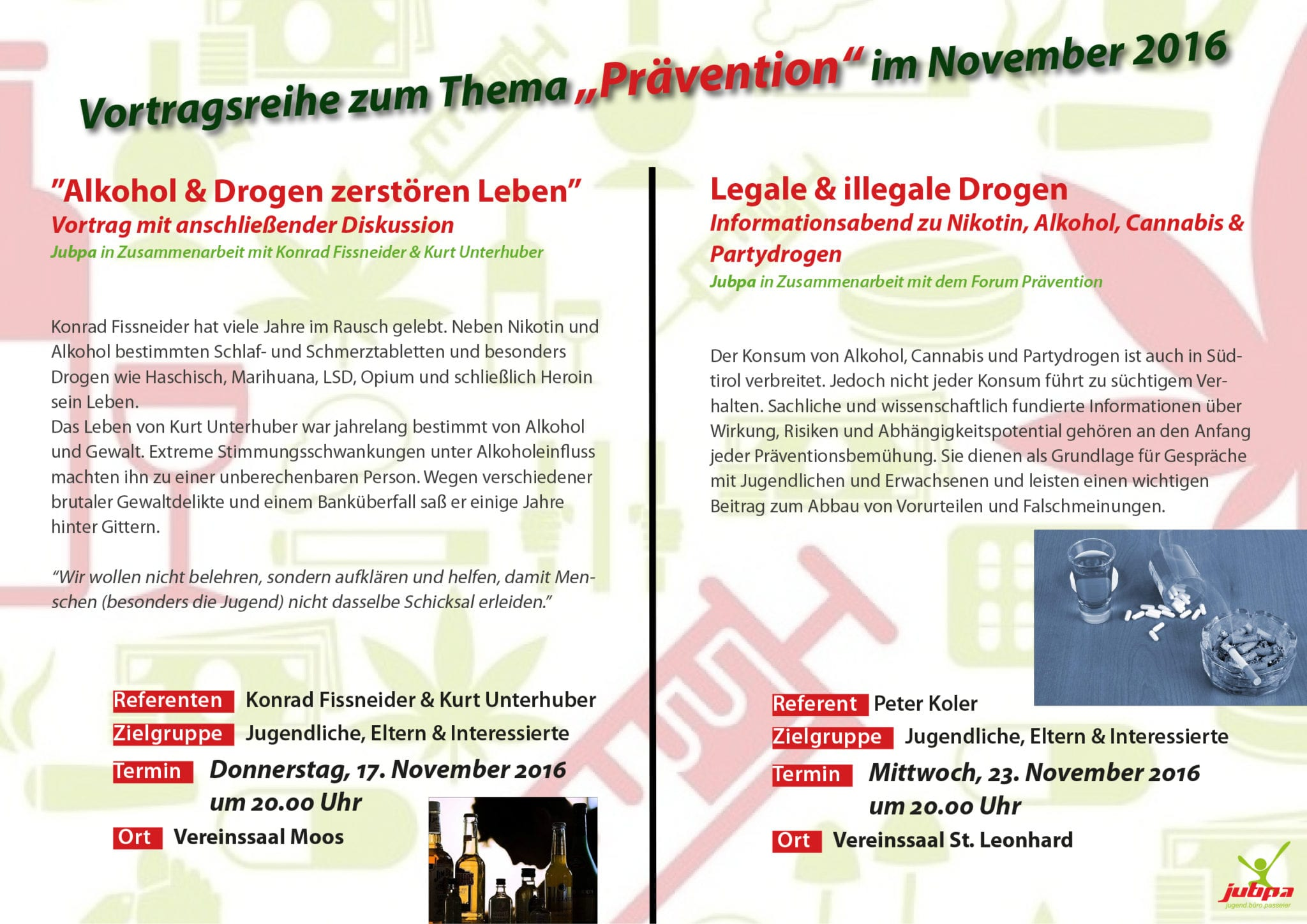 Flyer - Vortragsreihe -Prävention-